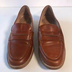 MADEWELL Elinor Chestnut Brown Loafer Shoes Sz 7.5